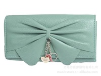 European and American big bow, Ms. Long buckle wallet, increasing beautiful pendants, fashion trends.
