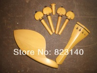 1 Set BOXWOOD Violin Fitting 4/4, Quality Violin parts with Tail piece, chin rest 4 pegs and end pin