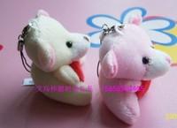 Plush mobile phone pendant heart hold hug Heart Bear   Bear toys  Cartoon bouquet doll doll