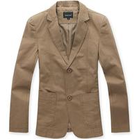 New arrivals 2014 fashion men's suit Wholesale price Casual plus size cotton Blazers Brands Men 6823