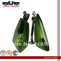 Green color 8mm/10mm Screw motorcycle Rear Mirror Bike mirror Fit All Honda Suzuki