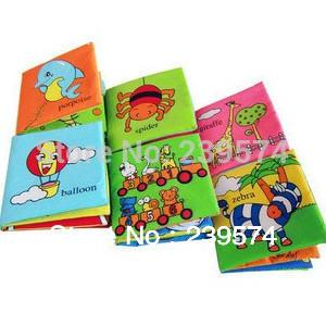 Versandkosten frei kinder/Baby/kid Säugling stereo tuch bücher bildungs-buch stereo tuch bücher soft bücher 6 stück/lot