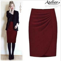 2012 winter fashion woolen skirt medium solid color ol professional   slim hip bust skirt high waist short skirt   C016