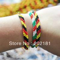 Free shipping 60pcs/lot WM-021 0.5CM silk woven bracelet Fashion jewelry handmade weave rope string friendship bracelets