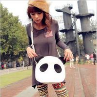 Womens Girls Cute Panda PU Leather Handbag Shoulder Bag Cross Body free shipping W1245