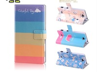 Flip Wallet Stand PU Leather Case Cover For Sony S39H Xperia C + Screen Protector For Sony Xperia C