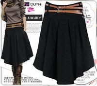 2014 New  women's woolen skirt pleated   bust skirt expansion skirt    C294