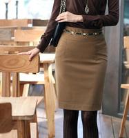 New 2014 women's formal woolen short skirt professional short   slim hip skirt bust skirt    B256