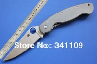 Free Shipping,2013 Hot Sale Spyderco C36 TIG Style Folding Knife, S30V Titanium Alloy Handle Camping Knife,Collection Knife