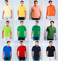 Promotion! New 2013 GOOD QUALITY POLO Man Golf Shirt Cotton Slim Fit Shirt For Men`s Polo Shirts Men's Shirt 12 Colors