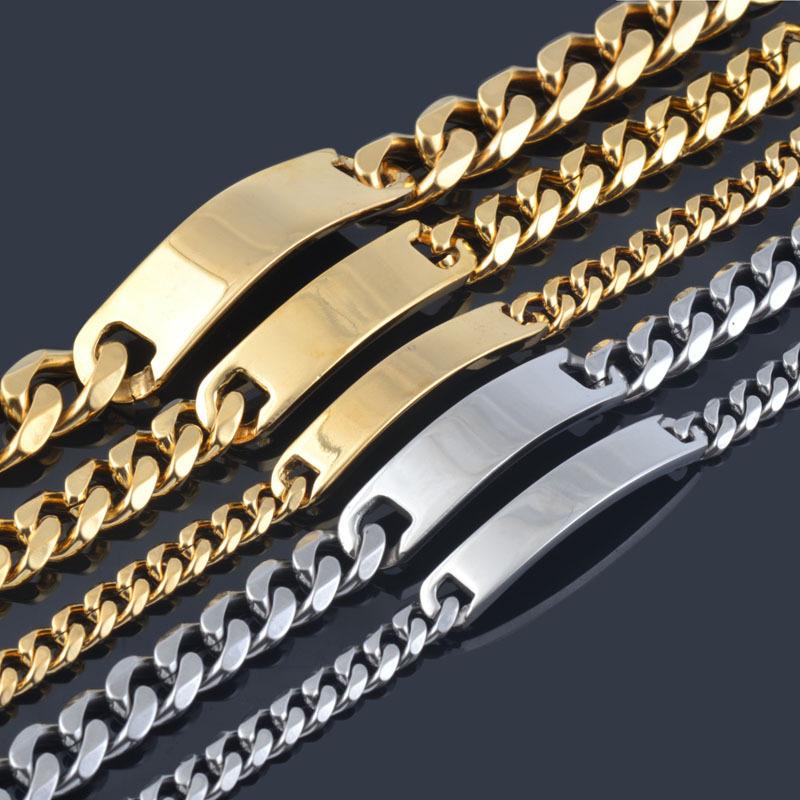 8 0 14 5mm width 316L stainless steel men bracelets fashion stering steel hand chain high