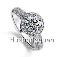 Fashion luxury wedding birthday gift, plating 14 kt AAA zircon women ring size 6/7/8/9/10 Ms. Anel Branco