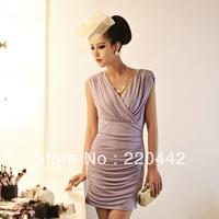 HOT! gorgeous autumn new Korean women dress fashion dress sexy Slim package hip mini dress,free shipping