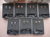 7 PCS New 3.5mm Colorful Stereo Bass Skull Earpods Earplugs Earphone Without MIC for Iphone samsung,for ipad,for ipod