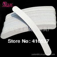 50pcs Professional Nail files zebra file emery board 100/100 grit  Free Shipping