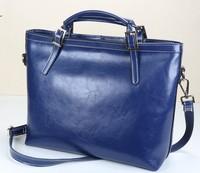 Fashion classic all-match brief portable cross-body wax genuine cowhide leather handbag women's bag,retail