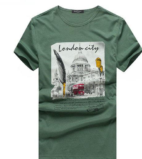 New 2014 Fashion T-shirt Men Short-sleeve Shirts Summer Camisetas Masculinas Cotton Tops Art Drawing Loose Casual Free Shipping(China (Mainland))