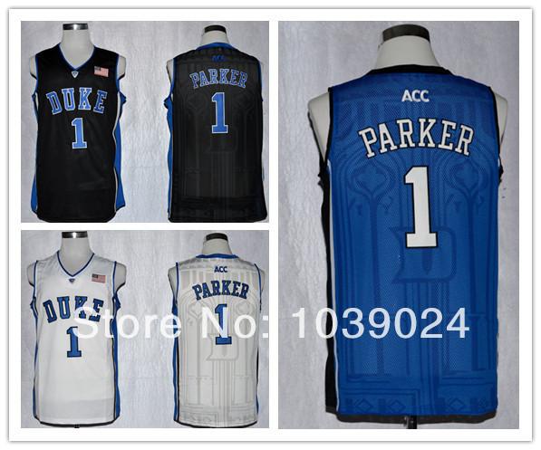 2014 NWT Duke Blue Devils #1 Jabari Parker Jersey Blue Duke White Black Performance College Basketball NCAA Jabari Parker Jersey(China (Mainland))