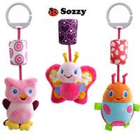 3 pcs/set Sozzy baby plush soft cute toy crib/stroller hanging toys