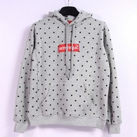 Special Price!Europe Style Couples Hip-hop Polka Dot Supreme Long Sleeve Hoodies Men's Pyrex 23 HBA  Sweatshirts