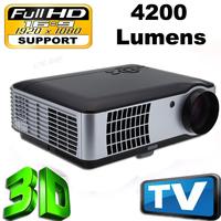 4200lumens 1080P 3D Led  Projector  Projectors beamer proyector projektor TV,support 1920*1080 ,Bridgelux 200W high power LED