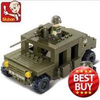 New Sluban Army Patrol Car Educational Building Blocks Develop Intelligence Toy
