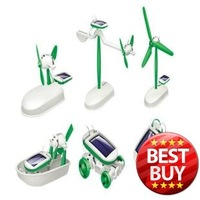 New 6in1 Children's DIY Technology Educational Solar Assembles Creative Classic Toy for childen gift