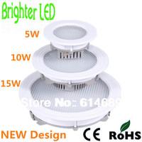 Ultra Bright 2835SMD LED Ceiling Light Round Panel Light  5W 10W 15W LED Lamp 90-100LM/W  AC85-265V