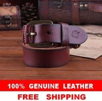 100% Cowhide Leather New 2014 Men Vintage Belt TOP Designer Brand Name Accessories Man Jeans Strap Male Cinto Ceinture MBT0107
