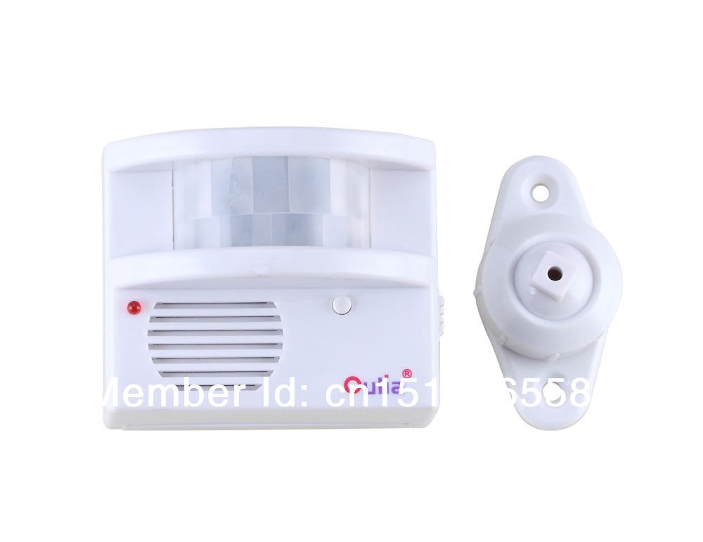 Free shipping Wireless PIR Sensor/Motion Detector For Automatic Home Security Alarm System(China (