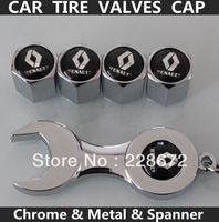 Free Shipping Metal Chrome Renault Badge Wheel Tire Valve Caps Renault Sticker Tyre Valve Dust Cap
