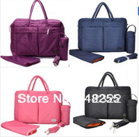Fashion 4 Sets Mummy Bags Baby Diaper Bag New 2014 Storage Organizer Travel Nappy Bag Brand Women Messenger Bag Handbags Totes