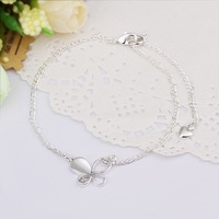 New Arrival!! Wholesale Butterfly Anklets 925 Silver Fashion Jewelry Personality Gift A021