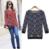 discount sale 2014 fashions autumn winter women brand desigual mental zipper pullover long sweater DM132062