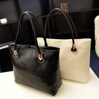 Fashion brief fashion all-match black women's quality casual handbag shopping bag shoulder bag big bags