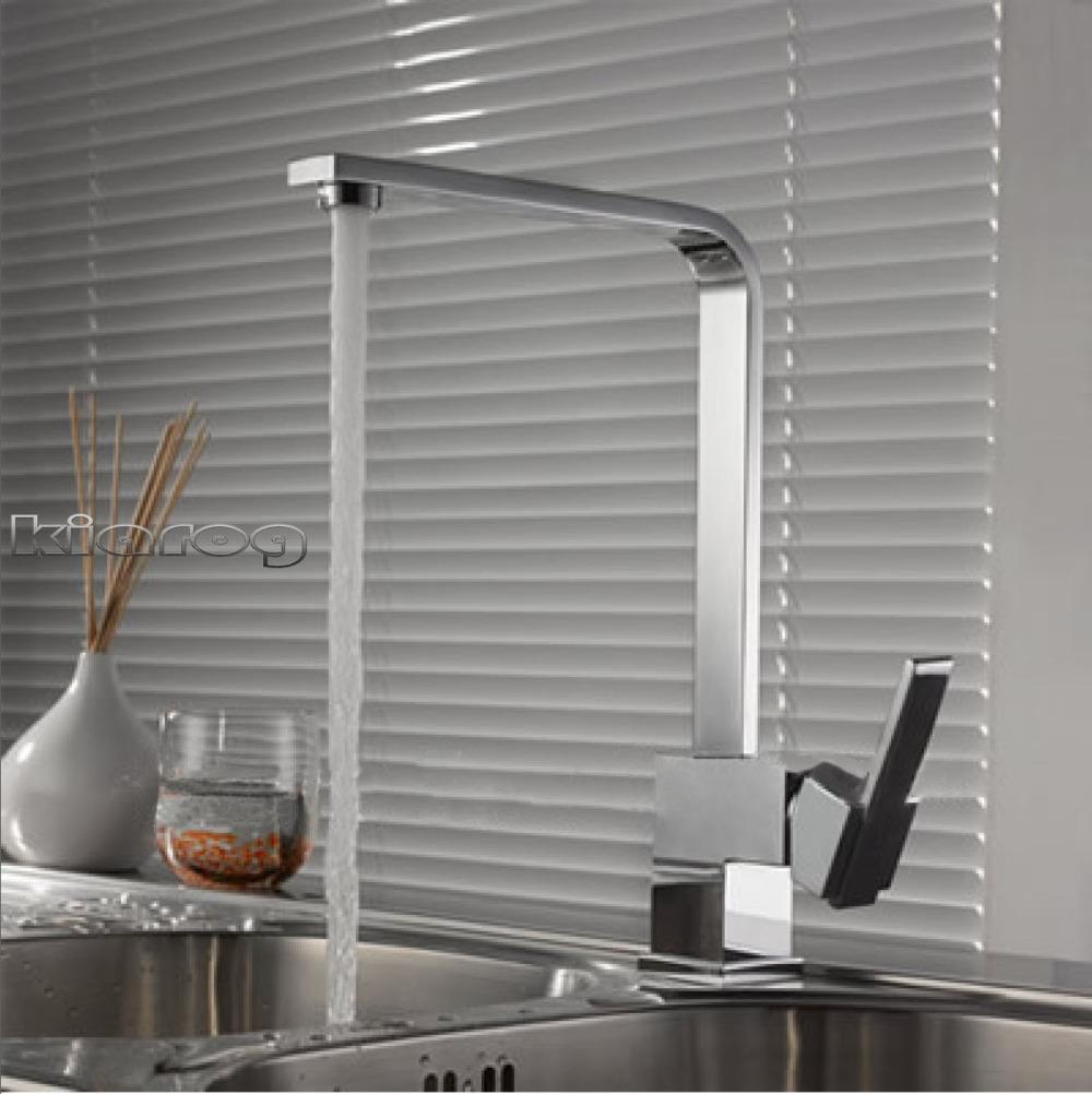Cromo lucido torneira cozinha. Girevole in ottone rubinetto della cucina. 360 gradi di rotazione miscelatore da cucina rubinetto. Xk-10 1. xk-100.