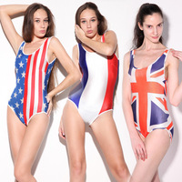 Hot Selling Trendy Newest Women Sexy Britain American Russia Flag Gaocha Triangle Piece Bikini Swimsuit 2 Style
