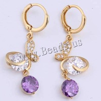 Free shipping!!!Brass,2013 new men, Butterfly, 18K gold plated, with cubic zirconia, nickel, lead & cadmium free, 7mm