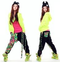 Women harem pants / dance wear sweatpants, personality casual loose hip hop pants young girls/kids, XS-XXL dance pants