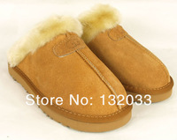 Factory Outlet Australia Classic 5125 Women Men Cow Leather Snow Adult Slippers US5-13 Bag Logo pink sandy chestnut chocolate