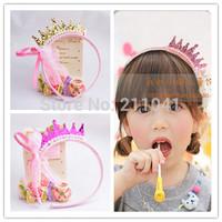 Fashion Cute Princess headwear hair accessories crown tiara hairbands children kids girl baby gift Hair Band Headband GLA-0032