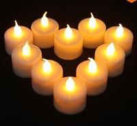 24 Pcs Flickering Flicker Light Flameless LED Tealight Tea Candles Light for Wedding Birthday Party Christmas Xmas Decoration
