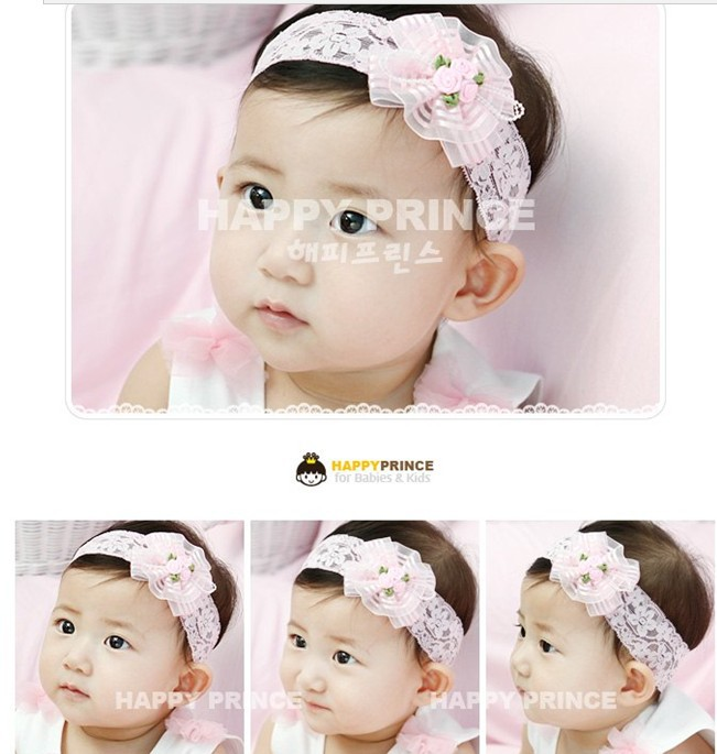 10pcs/lot free shipping baby headband rose flower for daily life articles korean hair bow lace hairband for girl(China (Mainland))