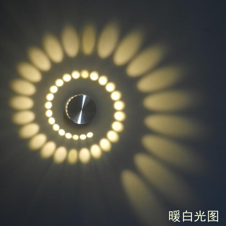 New LED Modern Light LED Wall Lamp 3W Art Light For