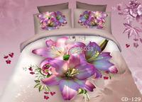 Wholesale6 PCS Free Shipping 3d Classic home decor 3D Bed Linen bedding set bedlinen duvet cover set (New Pattern -4)
