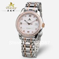 2015 Real Watches Switzerland Brand Awsky Men's Mechanical Watches Automatic+czech Diamond+sapphire Waterproof 3atm Back Light