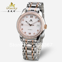 Switzerland Brand Awsky Men's Mechanical Watches Automatic+Czech Diamond+Sapphire Waterproof 3ATM Back light
