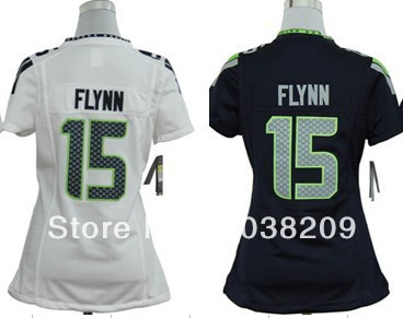 Womens Jersey Football American Seattle #15 Matt Flynn Game Blue/White Embroidery Logo,Size S,M,L,XL,XXL(China (Mainland))