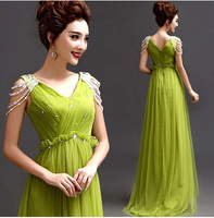 Sheath/Column Strapless Floor-length Chiffon Bridesmaid Dress green 272
