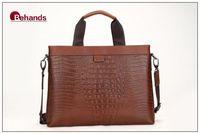 Bag Genuine Leather Shoulder Bags Men Handbags Business Bag Crocodile Purses Briefcase BH20123+Free Shipping